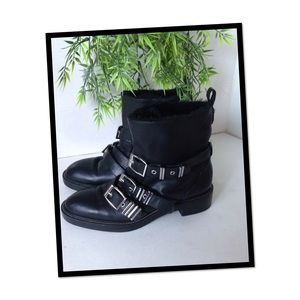 Zara motorcycle 🏍 style boots
